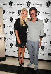 "Perez Hilton looked surprisingly ""normal"" in a gray half-zip sweater and slacks at the 'One of a Kind Night' show."