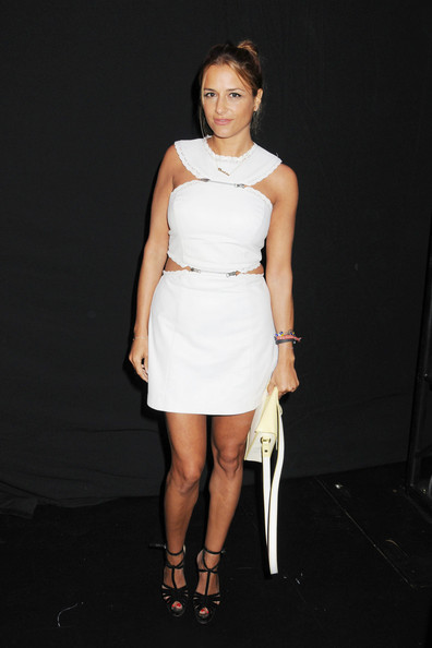 Charlotte Ronson sported a teenybopper vibe in a little white cutout dress during her fashion show.