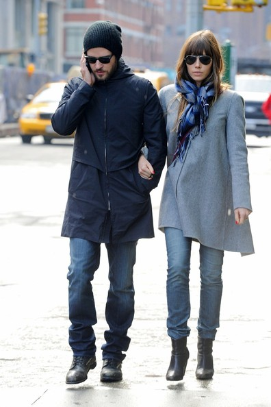 Jessica Biel and Justin Timberlake Out for a Stroll