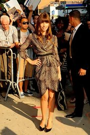 Jessica Biel was smoking in this animal-print wrap-dress for her visit to the 'Daily Show.'