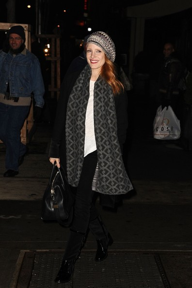 Jessica Chastain Arrives for Her Play