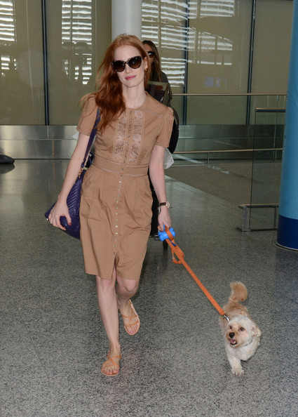 Jessica Chastain Flat Sandals []
