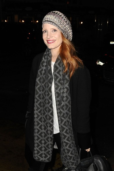 Jessica Chastain Wool Beret