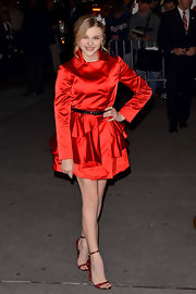Young starlet Chloe Moretz channeled Dorothy of the 'Wizard of Oz' in glittering red sandals.