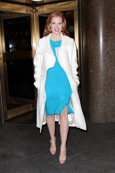 More Pics of Jessica Chastain Leather Shoulder Bag (3 of 12) - Jessica Chastain Lookbook - StyleBistro