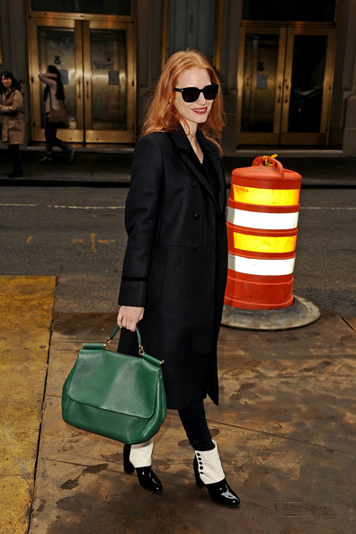 More Pics of Jessica Chastain Wool Coat (10 of 22) - Jessica Chastain Lookbook - StyleBistro