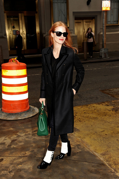 More Pics of Jessica Chastain Wool Coat (2 of 22) - Jessica Chastain Lookbook - StyleBistro