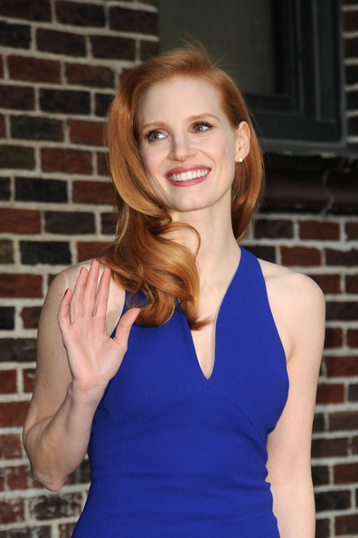More Pics of Jessica Chastain Cocktail Dress (1 of 18) - Jessica Chastain Lookbook - StyleBistro