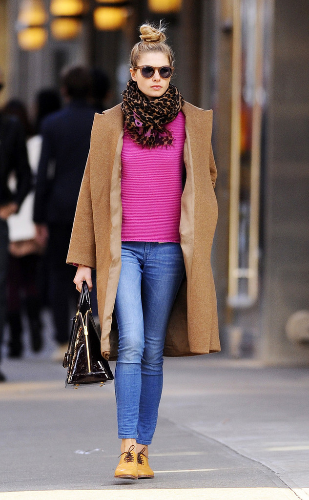 Jessica Hart spends the day out and about in SoHo. The Australian model looked chic in a camel colored coat and a scarf.