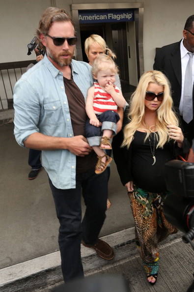 Jessica Simpson and Family at LAX