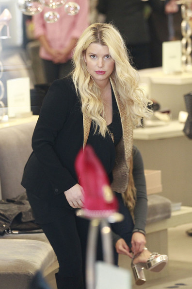 Jessica Simpson Out Shopping