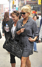 Jessica Simpson looked adorable wearing a casual bun while out with her mother in NYC.