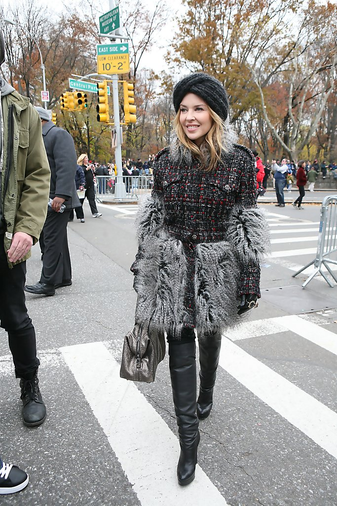 : Kylie Minogue at the 84th annual Macy's Thanksgiving Day Parade  in New York City.