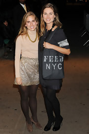 "Lauren Bush toted a FEED NYC bag to the screening of ""I Love You Phillip Morris."""