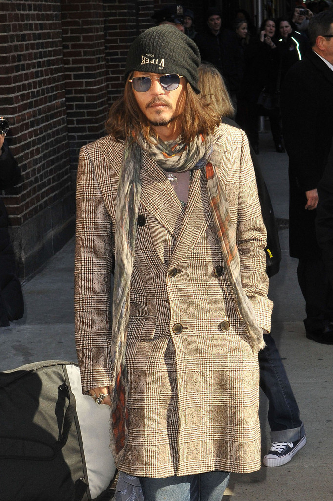Johnny Depp Tweed Coat Johnny Depp Looks Stylebistro