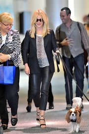 Julianne Hough was dressed quite stylishly for a dog walk in these skinny leather pants.