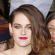 Kristen Stewart's Fuchsia Lips and Golden Waves