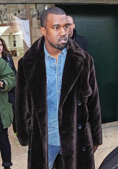 More Pics of Kanye West Fur Coat (3 of 4) - Fur Coat Lookbook - StyleBistro