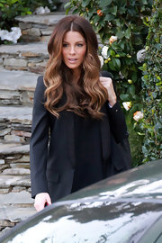 Kate styled her famous tresses in a luscious brown ombre tones.