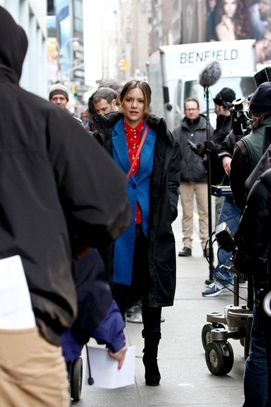 Katharine McPhee Films 'Smash' in NYC