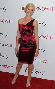 Actress Katherine Heigl attended the 'Life As We Know It' premiere wearing ivory Swarovski crystal heels.