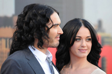 Katy Perry Russell Brand Russell Brand and Katy Perry at the O2 Arena, London