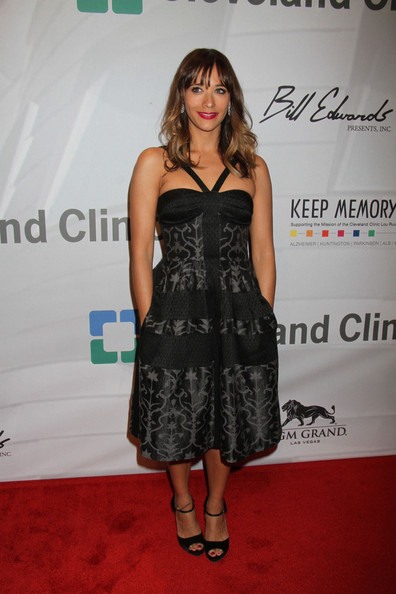 More Pics of Rashida Jones Long Wavy Cut with Bangs (1 of 3) - Long Wavy Cut with Bangs Lookbook - StyleBistro
