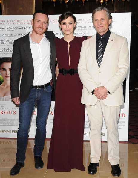 """Keira Knightley attending the UK premiere of """"A Dangerous Method"""" held in the crystal room at the May Fair Hotel, London"""