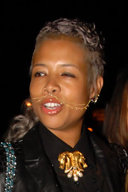 Kelis has been known to push the boundaries and, with this double chain and hoop piercing, she certainly redefines the nose ring!