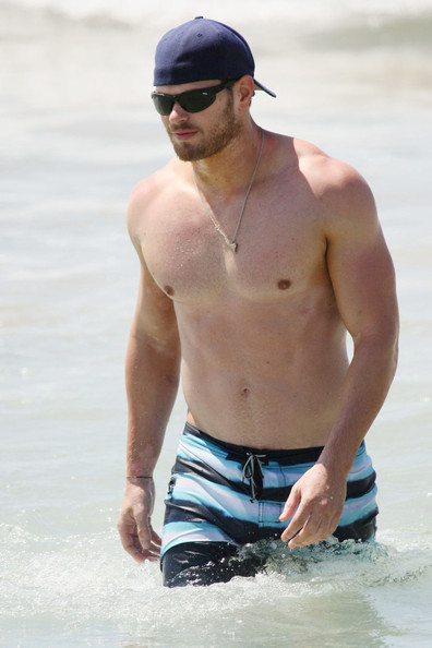 Kellan Lutz and Sharni Vinson in Sydney