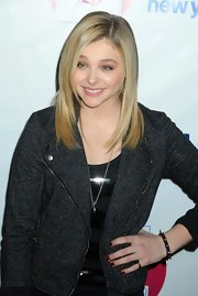 Chloe Grace Moretz wore a spiked bangle to Z100's 2012 Jingle Ball.