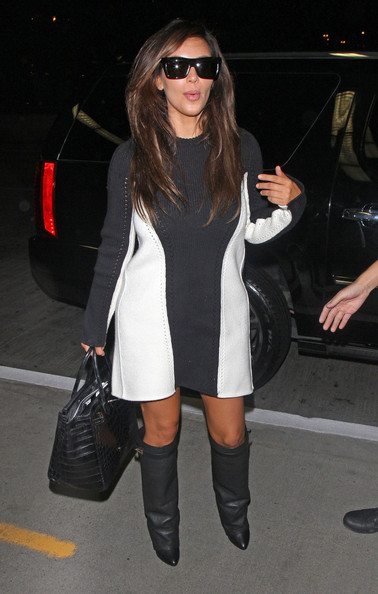 Kim Kardashian Sweater Dress