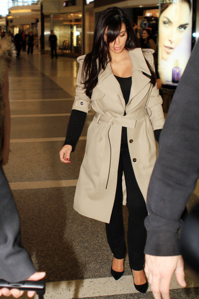 Kim Kardashian at the Airport