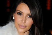 Kim Kardashian Wears Pretty Pink Lipstick at Kanye West Runway Show