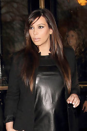 Kim K's hair looked particularly lovely while in London, where she sported a long and sleek 'do.