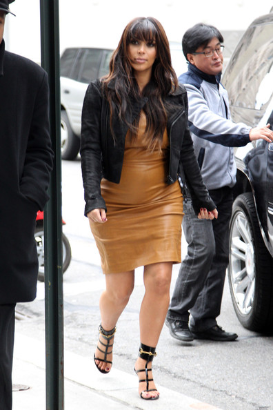 More Pics of Kim Kardashian Leather Dress (3 of 15) - Leather Dress Lookbook - StyleBistro