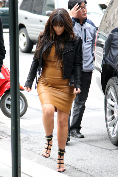 More Pics of Kim Kardashian Leather Dress (2 of 15) - Leather Dress Lookbook - StyleBistro