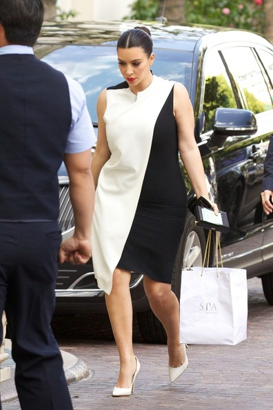 More Pics of Kim Kardashian Cocktail Dress (1 of 16) - Kim Kardashian Lookbook - StyleBistro