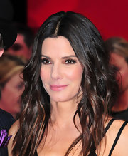 Sandra Bullock showed off her chocolate-highlighted waves at 'The Heat' screening.