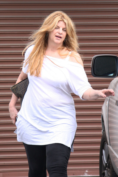 Kirstie Alley Off-the-Shoulder Top