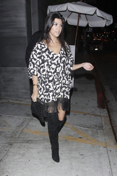 Kourtney Kardashian Over the Knee Boots