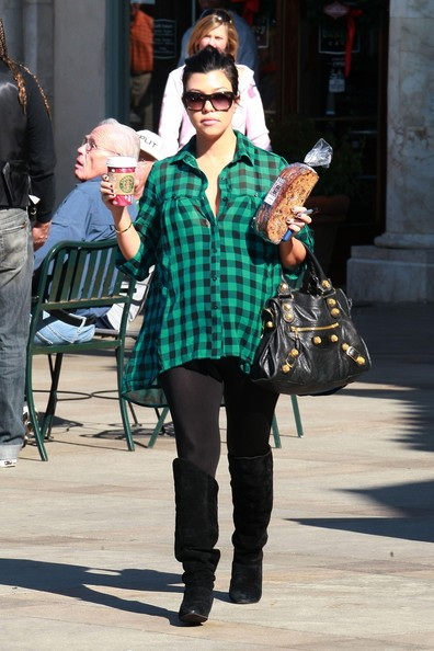 Kourtney Kardashian Flannel Shirt