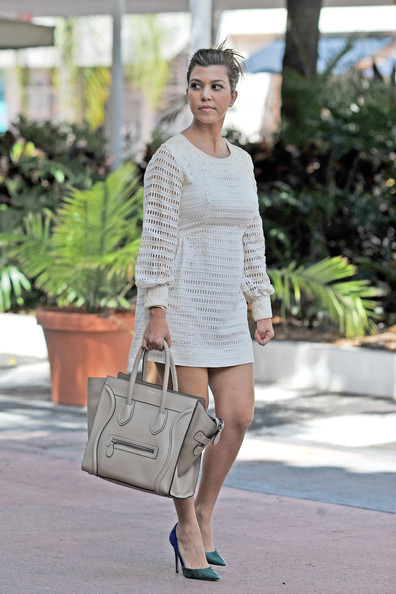 where can i buy celine shoes online - Kourtney Kardashian Leather Tote - Leather Tote Lookbook - StyleBistro