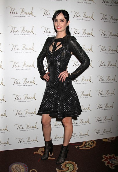 Krysten Ritter Leather Dress