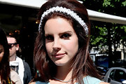 Lana matched her makeup to her hair with winged eyes in Paris.