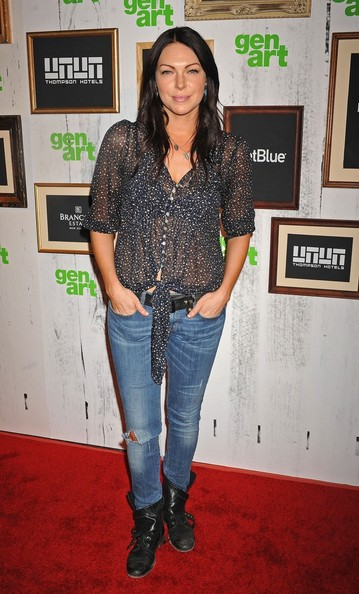 More Pics of Laura Prepon Skinny Jeans (1 of 2) - Laura Prepon Lookbook - StyleBistro