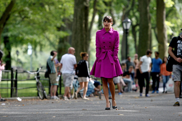 More Pics of Lea Michele Trenchcoat (5 of 24) - Lea Michele Lookbook - StyleBistro