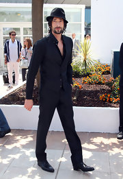 Adrien went all black at the Cannes Film Festival in a sleek vest.