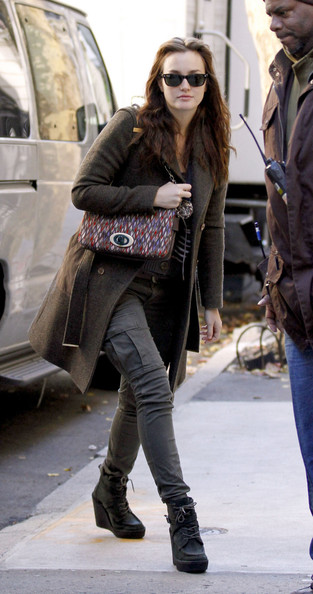Leighton Meester Wedge Boots