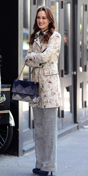 More Pics of Leighton Meester Evening Coat (1 of 13) - Leighton Meester Lookbook - StyleBistro
